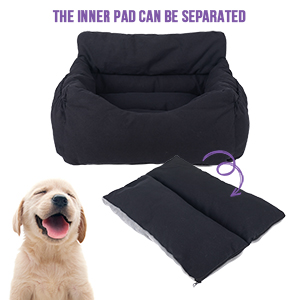 Dog Car Booster Seat 2-in-1 Dog Carseat Comfy Indoor Lounge Bed for Dogs Cats