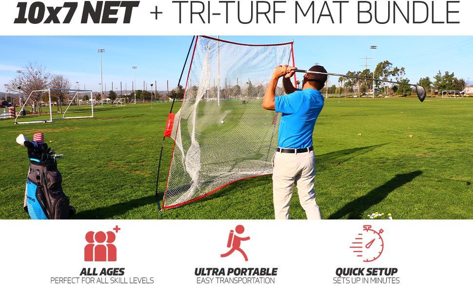 powernet 10x7 golf net
