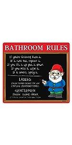 Gnome Bathroom Sign