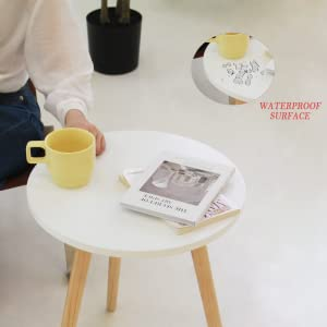 Durable End Table with Water-resistant