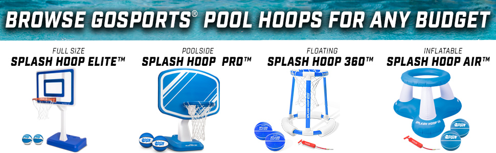browse gosports pool basketball hoops for any budge inground pools and more