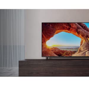 Tv in a livingroom Mountain image on screen