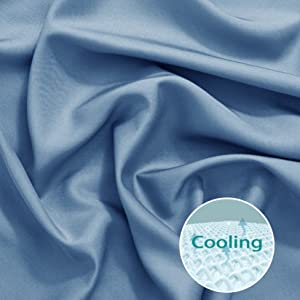 cooling bamboo sheets set for bed soft cool for hot sleeper night sweats