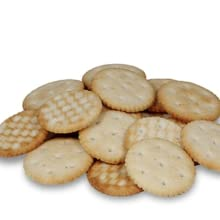 galletas saladas redondas pequeñas