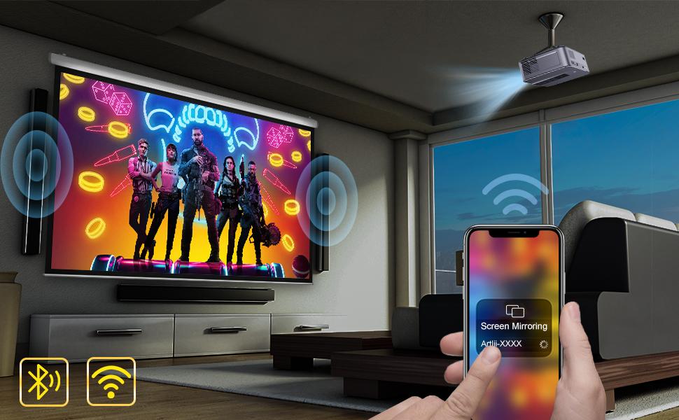 projector wifi Bluetooth