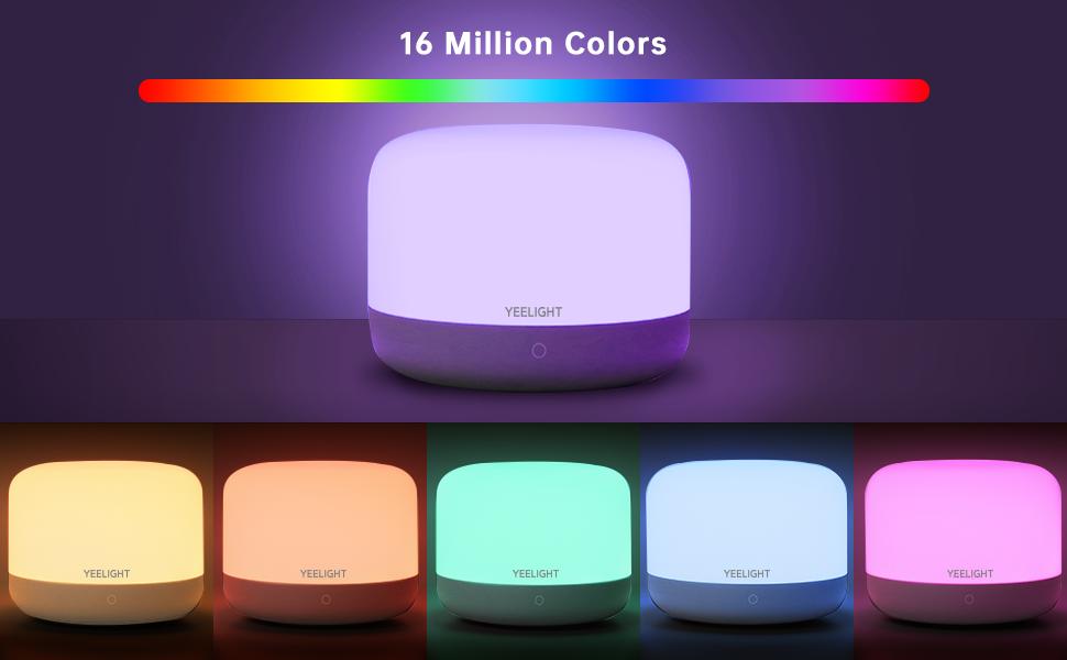 16 millions colors table lamp