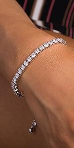 cubic zirconia tennis bracelet cz adjustable bolo bracelets slider gifts for mom mothers wife