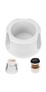 Anti-Spill Cup Holder WHITE