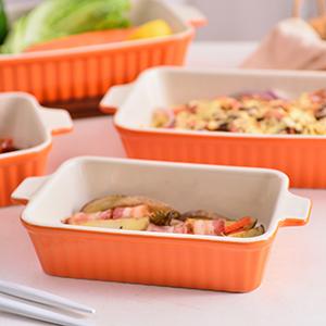 Bakeware set porcelain baking pans baking dish casserole dish for cooking oven dish for baking