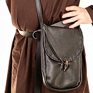 Mythrojan Messenger Pouch iPad Tablet Renaissance Costume Medieval lady leather I pad LARP GN SCA