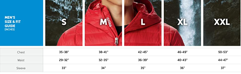 Mens coat size and fit guide