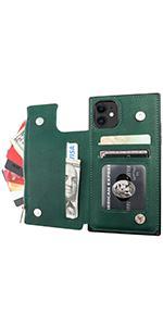 Magnetic zipper back cover case