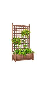 Free Standing Plant Raised Bed with Trellis