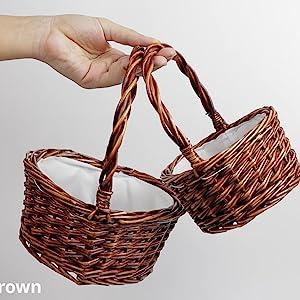 Brown heart basket