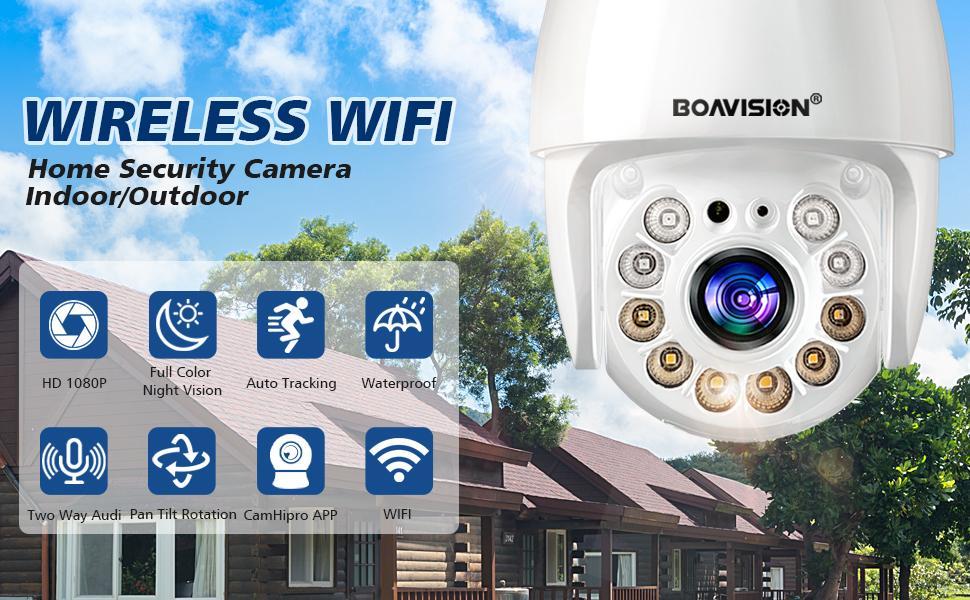 Security camera outdoor wireless wifi