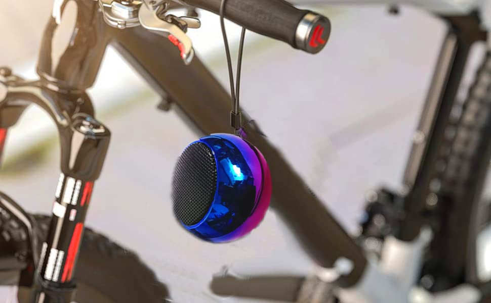 Portable speaker: small and light, with lanyard. It's the best companion for outdoor riding