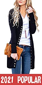 Snap Button Down Cardigan