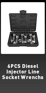 Diesel Injector Line Socket Wrench Set