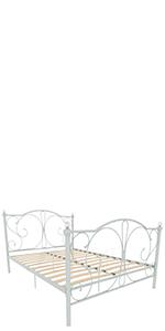 Vida Designs Barcelona Lit double en métal, blanc