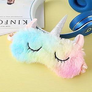 sleeping mask for girls sleep eye unicorn band cooling accessories