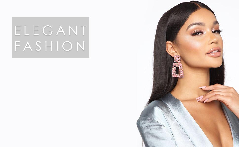 women drop dangle earrings