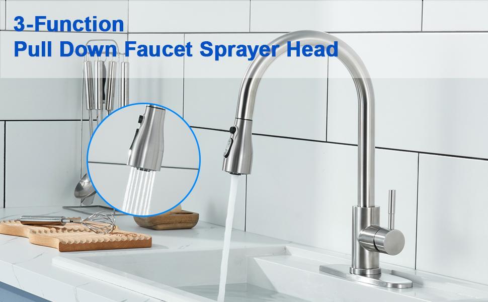 Pull Down Kitchen Faucet Sprayer Head
