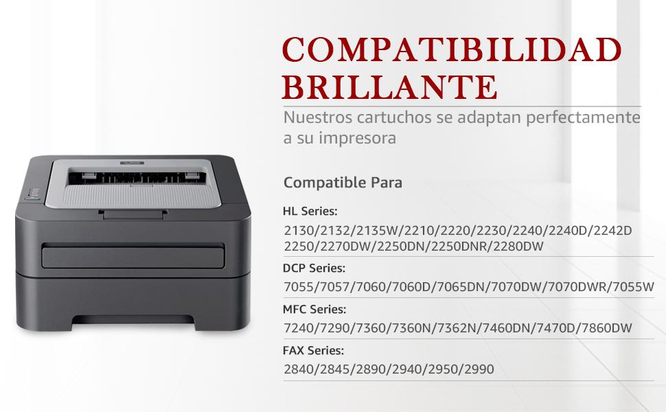 brother tn2220 tn-2220 tn2010 dcp-7055 mfc-7360n hl-2130 fax-2840 toner