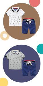 Camisetas de Manga Corta y Pantalones Cortos 2pcs Chicos Ropa Sets Niños Dibujos Animados