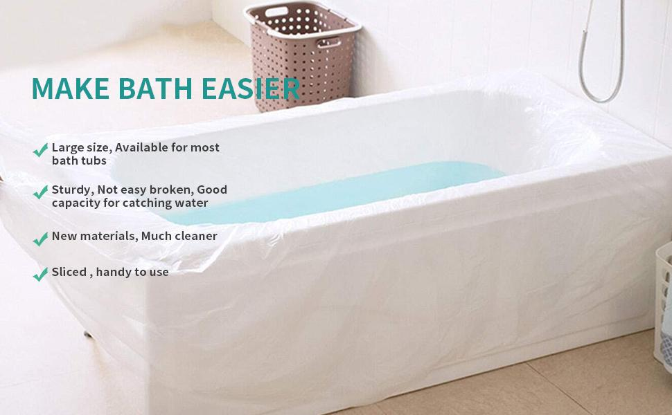 Benefits to use the bathtub plastic cover bags