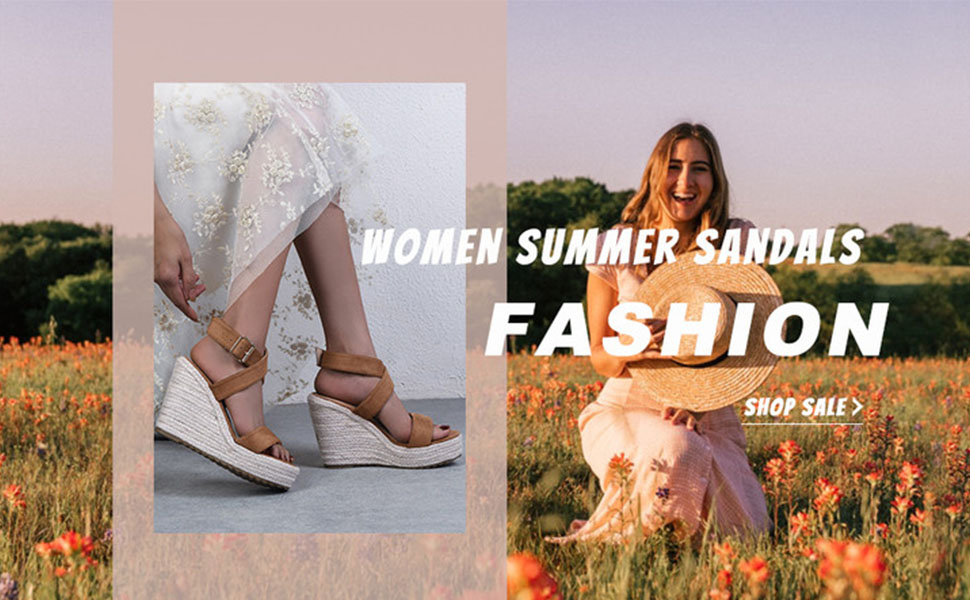 women summer casual platform wedge sandals
