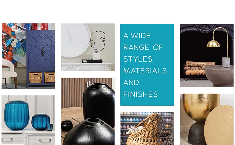 A Range of Styles and Materials