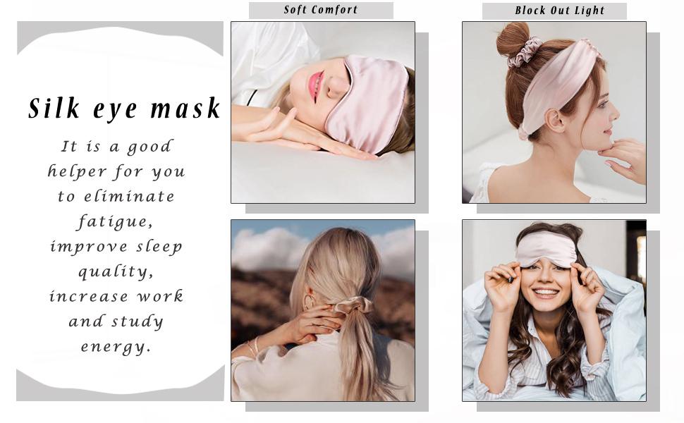 Satin Silk  Sleeping Eye Mask Set