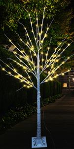 6ft Birch Tree-Warm White