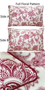 red floral pillowcases