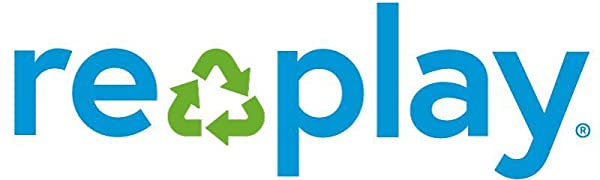 Blue sign with recycle symbol in middle