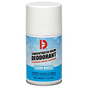 Concentrated Room Deodorant For Metered Aerosol Dispensers
