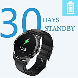 watch for men has a strong battery life and fast charging,30 days standby,15days normal used