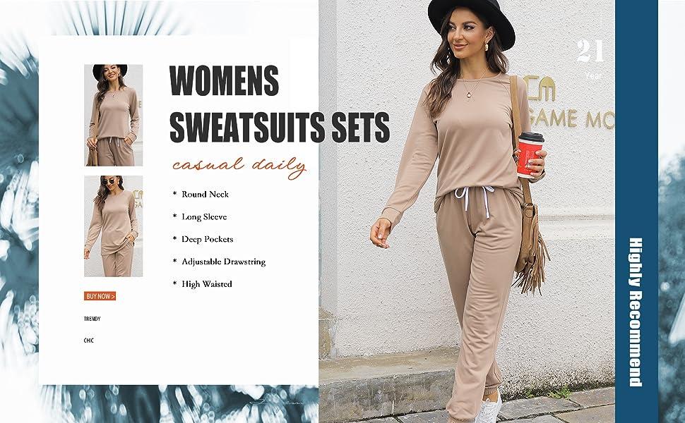 womens sweatsuits sets