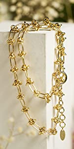 Twist gold chunky necklace