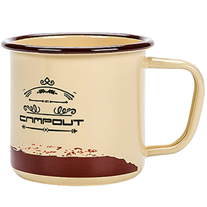 enamel camping mugs yellow