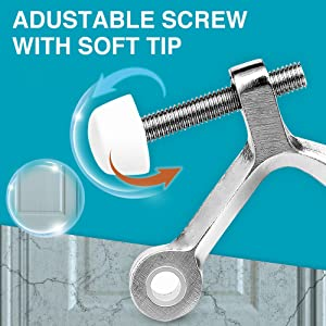 Adjustable screw with soft tip