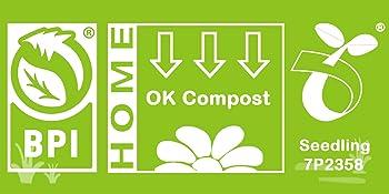 BPI ASTM D6400 OK COMPOST HOME EN13432 Kitchen compost degradable bag unscented