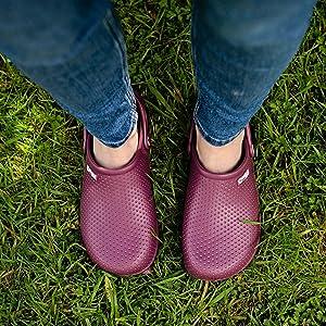 Womens ladies garden clogs lightweight waterproof gardening shoes comfortable premium