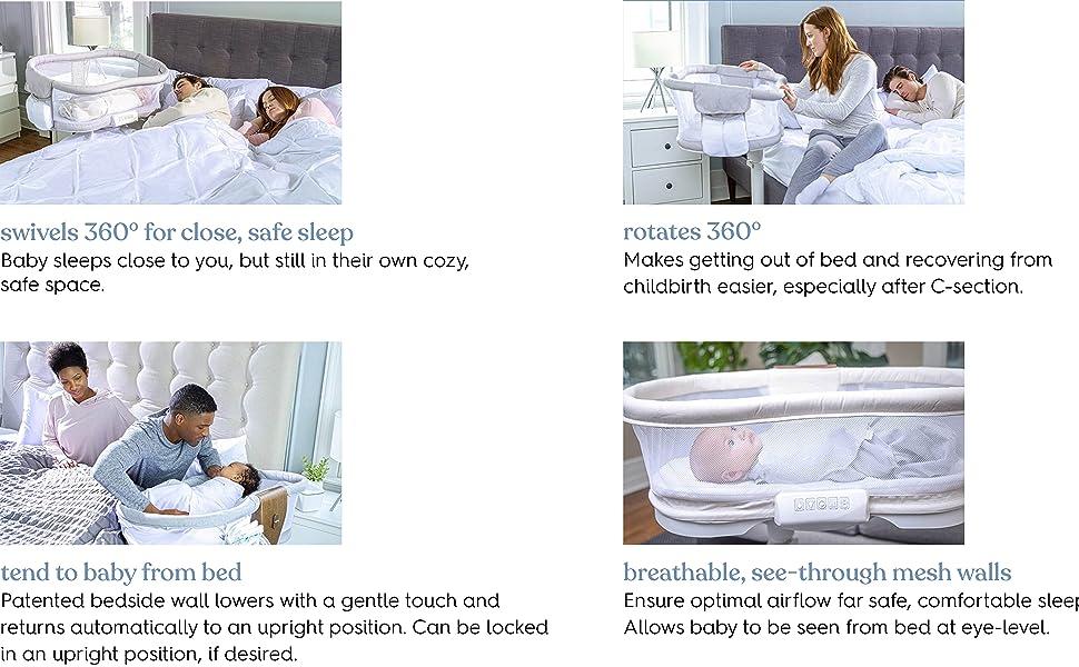 halo bassinest swivel sleeper features