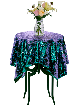 Sparkly Table Linens for Weddings