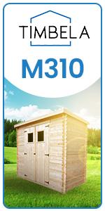 Timbela Garden Shed Wooden avec porte Windows Roof Stable Montage facile 418 x 318 cm 12 m² M338