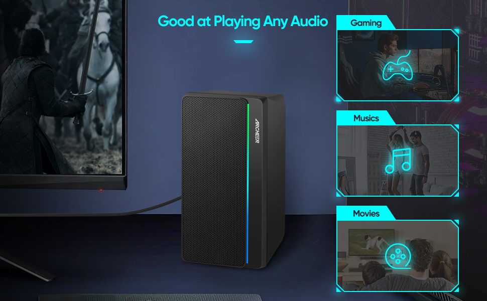 ARCHEER Dual Speakers are good at playing any audio