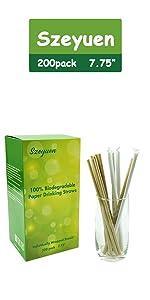 Paper Drinking Straws-Brown Kraft