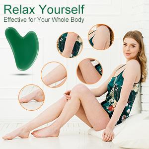 gua sha massage tool guasha jade stone