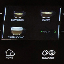 Full color drink icons make it a breeze to select your café favorites.